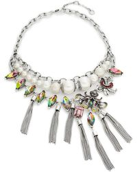 Gerard Yosca Faux Pearl And Stone Statement Necklace - Multicolour