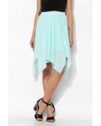 Sparkle & Fade - Handkerchief Hem Midi Skirt - Lyst