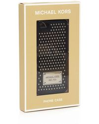 MICHAEL Michael Kors Micro Stud Saffiano Iphone 5/5S Case - Lyst