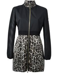 Moncler Gamme Rouge Leopard Print Overcoat - Lyst