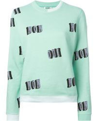Kenzo Oui Non Cotton Sweatshirt - Lyst