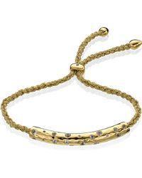 Monica Vinader Esencia Scatter 18ct Gold-plated Bracelet - Metallic