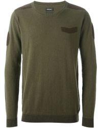 Diesel Green Military Sweater - Lyst