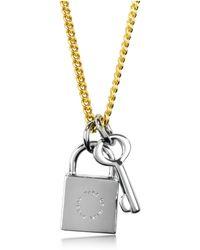 Marc By Marc Jacobs - Locked In Orbit Lock & Key Pendant Necklace - Lyst