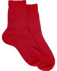Maria La Rosa Solid Mid-Calf Socks - Lyst