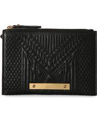 Jean Paul Gaultier Trousse Leather Pouch Black - Lyst