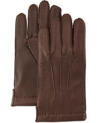 Portolano Cashmere-lined Deerskin Gloves - Lyst