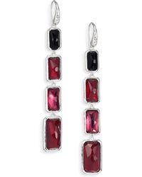 Ippolita Wonderland Harlow Semi-Precious Multi-Stone & Sterling Silver Rectangle Doublet Linear Drop Earr - Lyst