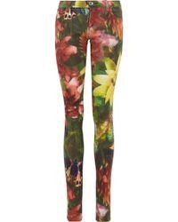 Alice + Olivia Printed Lowrise Skinny Jeans - Lyst