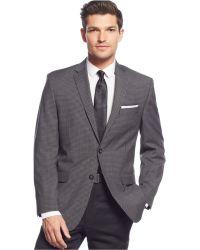 Calvin Klein Grey & Black Check Slim-Fit Sport Coat gray - Lyst