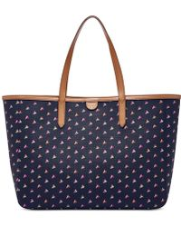 Fossil | Sydney East West Hearts Tote | Lyst