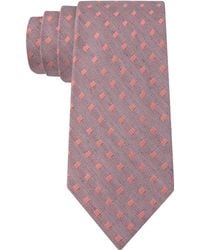 Calvin Klein Chalk Square Slim Tie - Lyst