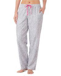 DKNY Patterned Flannel Pants - Lyst