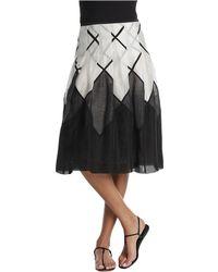 Nic + Zoe Diamond Wave Skirt black - Lyst