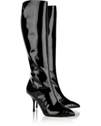 Giuseppe Zanotti Patentleather Knee Boots - Lyst