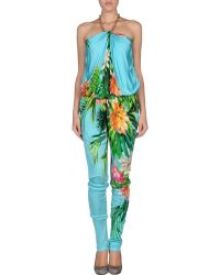 MSGM Floral Pant Overall - Lyst