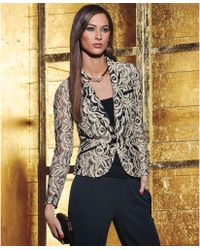Inc International Concepts Single-button Lace Blazer - Lyst