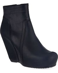 Rick Owens Styler Wedge Ankle Boots - For Women - Lyst