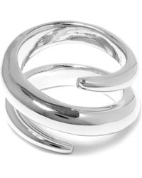 Jennifer Fisher Silver-plated Twisted Cylinder Ring - Metallic