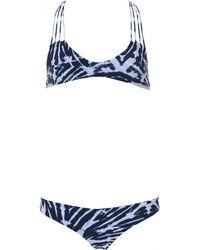 Mikoh Swimwear | 2 Piece Multi String Racerback Bikini Tie Dye | Lyst