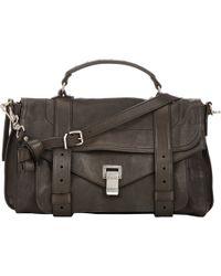 Proenza Schouler Ps1 Medium Shoulder Bag gray - Lyst