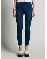 Free People Mod Side Zip High Rise - Lyst