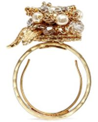 Miriam Haskell Micro Flower Cluster Ring - Lyst