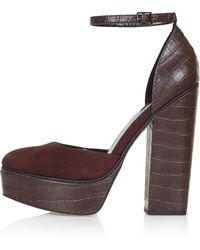 Topshop Sheila Platform Shoes - Lyst