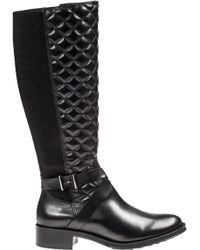 Andre Assous Seabiscuit Riding Boot Quilted Black Leather - Lyst