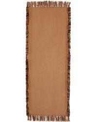 Neiman Marcus | Wool Wrap W/rabbit-fur Trim | Lyst