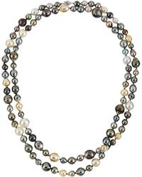 Belpearl Multicolor South Sea Tahitian Pearl Long Necklace - Lyst