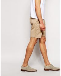 ASOS Skinny Smart Chino Shorts - Natural