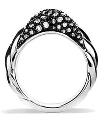 David Yurman X Collection Ring With Diamonds - Lyst