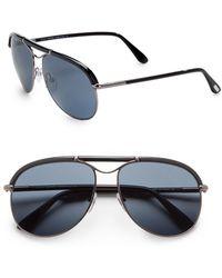 Tom Ford Metal Acetate Aviator Sunglasses - Lyst