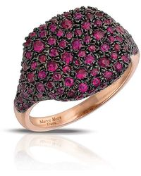 Marco Moore - Ruby And 14k Rose Gold Cocktail Ring - Lyst