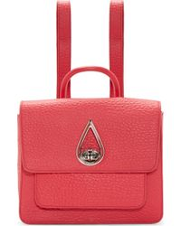 Kenzo Pink Leather Teardrop Backpack - Lyst