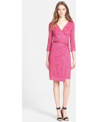 Diane von Furstenberg 'New Julian 2' Silk Jersey Wrap Dress - Lyst