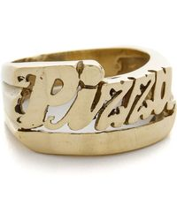 Snash Jewelry Pizza Ring - Gold - Metallic