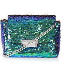 Topshop Womens Sequin Crossbody Bag - Blue - Lyst