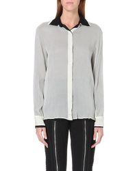 Jean Paul Gaultier Doublelayered Silk Shirt White - Lyst