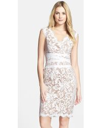 Tadashi Shoji Embroidered Lace Sheath Dress - Lyst
