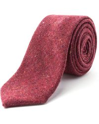 Racing Green Whitely Nep Tie - Red
