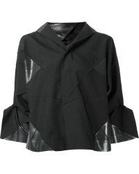 132 5. Issey Miyake - Panelled Hooded Jacket - Lyst