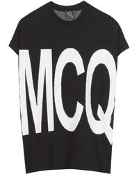McQ by Alexander McQueen Printed Stretch Top - Lyst