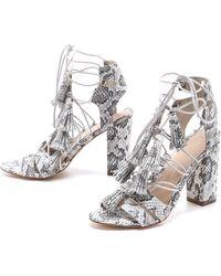 Loeffler Randall Luz Tassel Sandals - Creamgrey - Lyst
