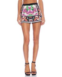 Clover Canyon Floral Scarf Print Shorts - Lyst