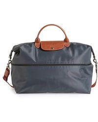 Longchamp 'Le Pliage' Expandable Travel Bag gray - Lyst