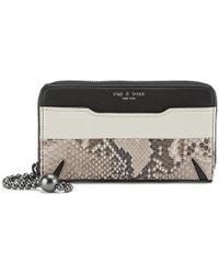 Rag & Bone Women's Devon Mobile Zip Wallet - Multicolour