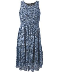 Proenza Schouler Flared Printed Dress - Lyst