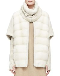 Loro Piana - Detachable Cowl and Arm Warmers Mink Fur Gilet - Lyst